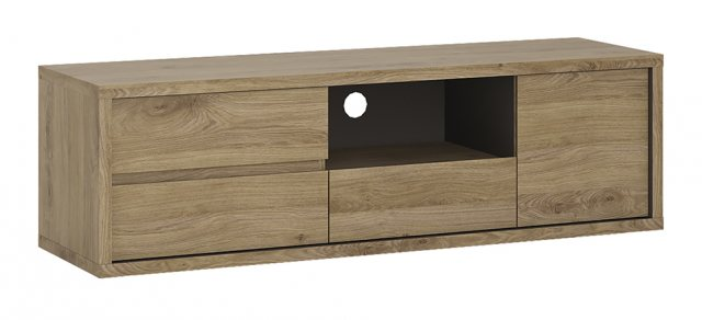 Home In Shetland 1 Slot TV Cabinet - Oak