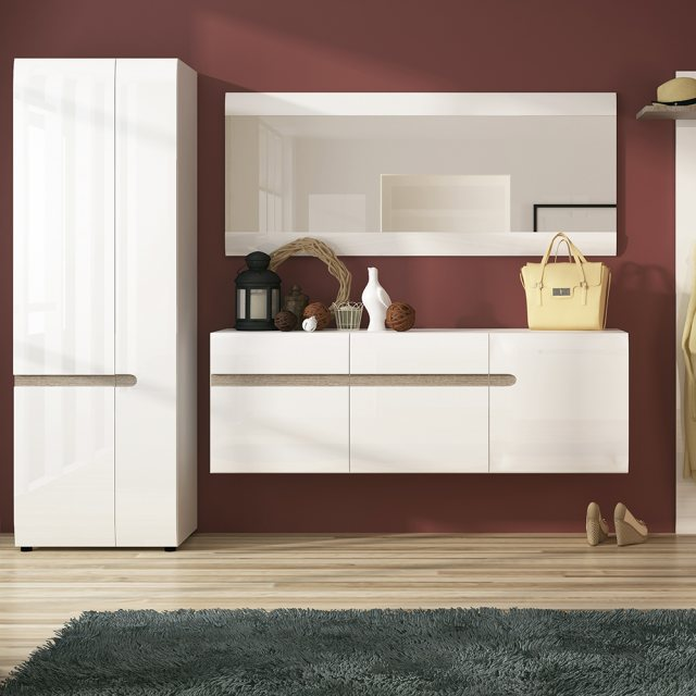 Home In Chelsea 2 Door Wardrobe - White