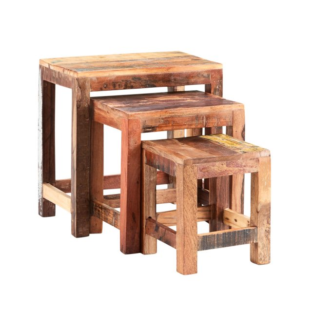 Home In Coastal Nest Of 3 Tables - Mixed Reclaimed Wood