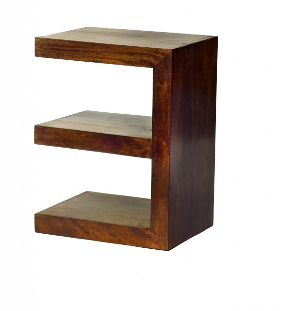 Home In Toko E Shaped Display Unit - Dark Mango Wood
