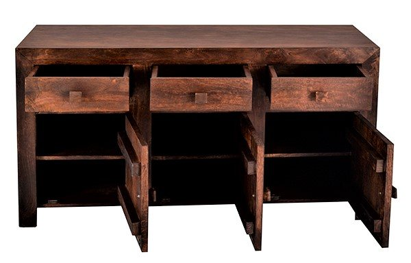 Home In Toko Large Sideboard - Dark Mango Wood