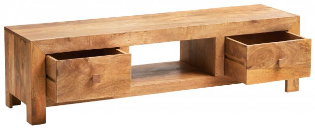 Home In Toko Wide Screen TV Unit - Light Mango Wood