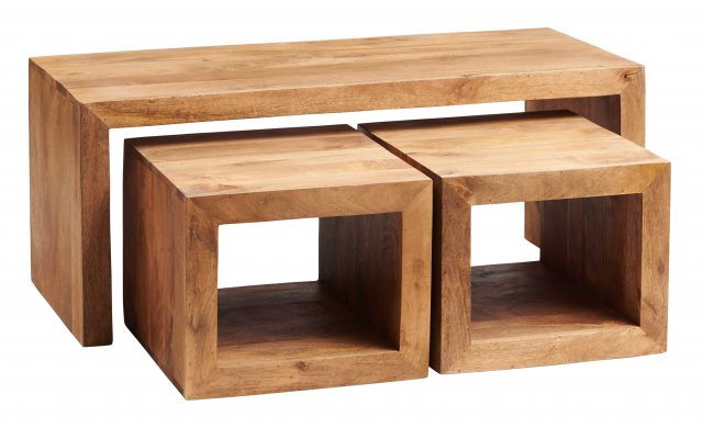 Indian Hub Toko Light Mango Cubed John Long Coffee Table