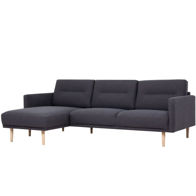 Home In Koppla Chaiselongue Sofa - Anthracite - Dark Grey