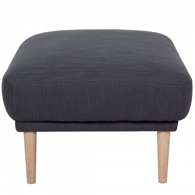 Home In Koppla Footstool - Anthracite - Dark Grey