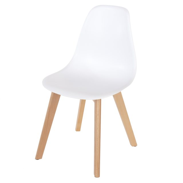 Home In Pair of White Alpine Dining Chairs