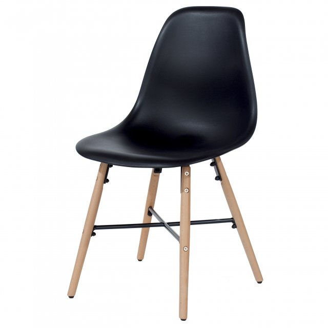 Home In Pair of Black Sion Dining Chairs