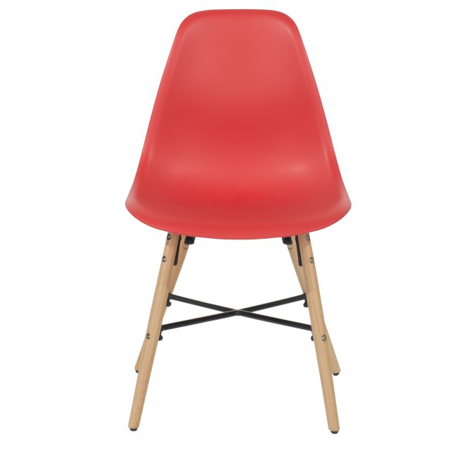 Home In Pair of Sion Dining Chairs - Red