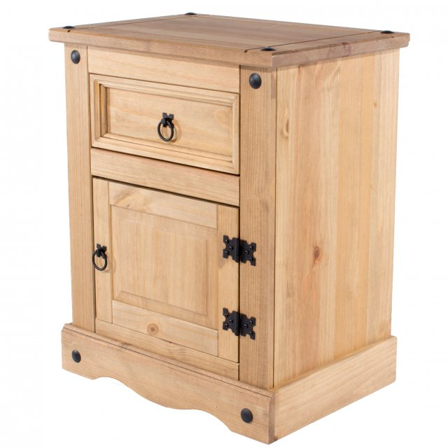 Home In Tolland One Drawer One Cupboard Bebside Cabinet - Pine