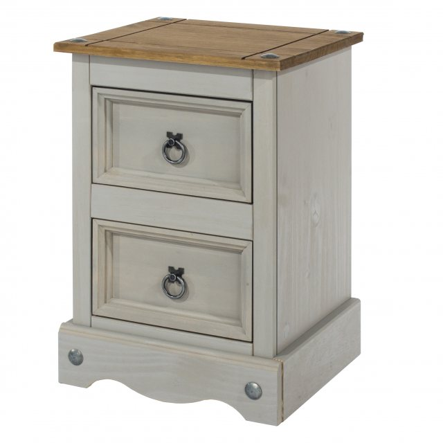 Home In Tolland 2 Drawers Bedside Cabinet