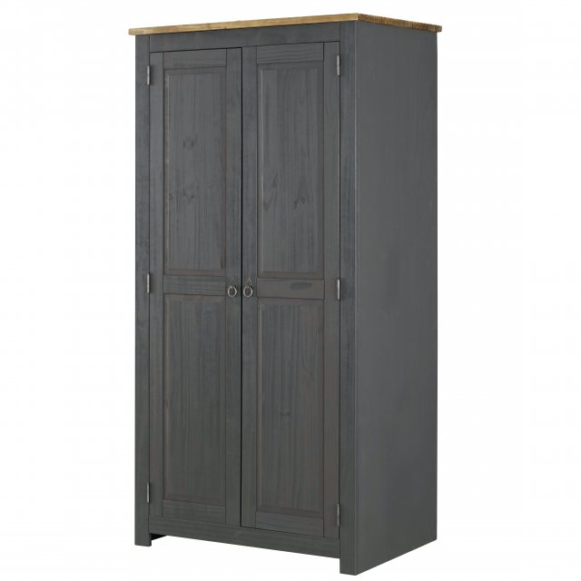 Home In Tolland 2 Door Wardrobe - Carbon