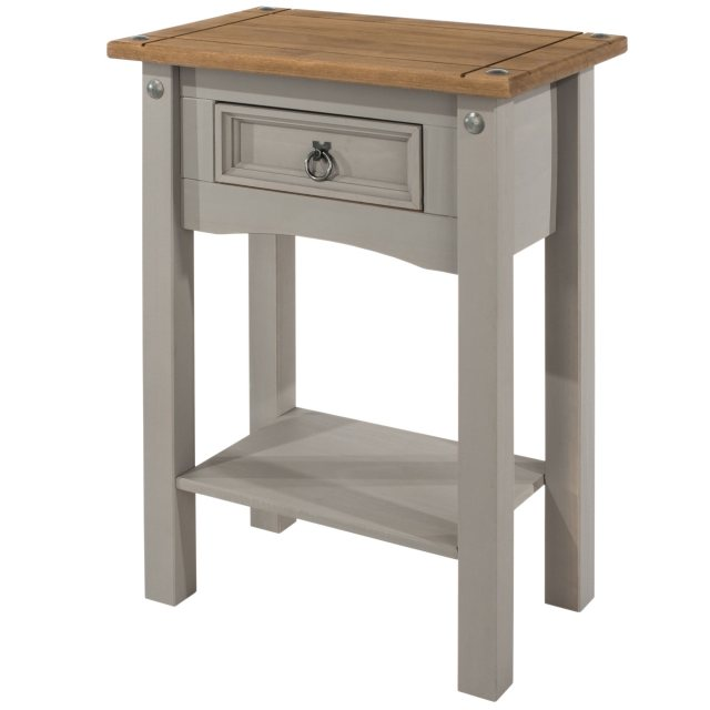 Home In Tolland 1 Drawer Hall Table with Shelf