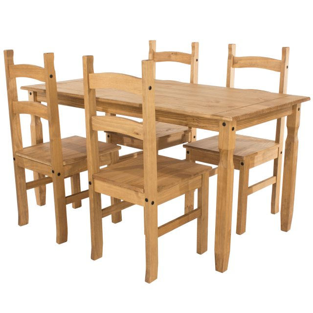 Home In Tolland Rectangular Dining Table & 4 Chair Set