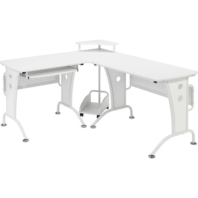 Piranha Furniture Unicorn Large Reversible Corner Desk - White
