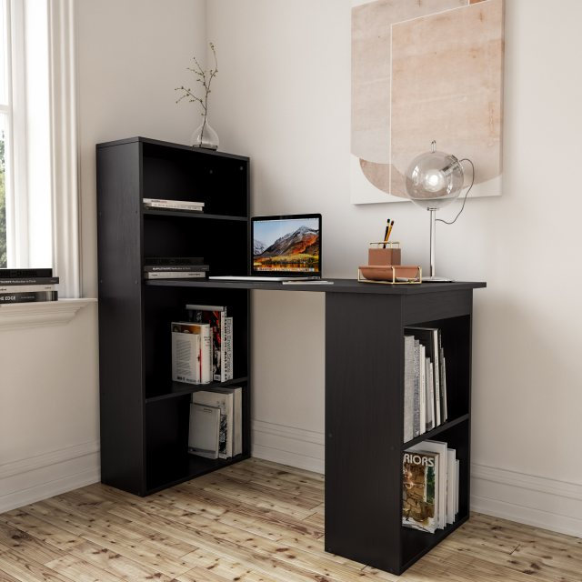 Piranha Furniture Labyrinth Desk - Black Woodgrain