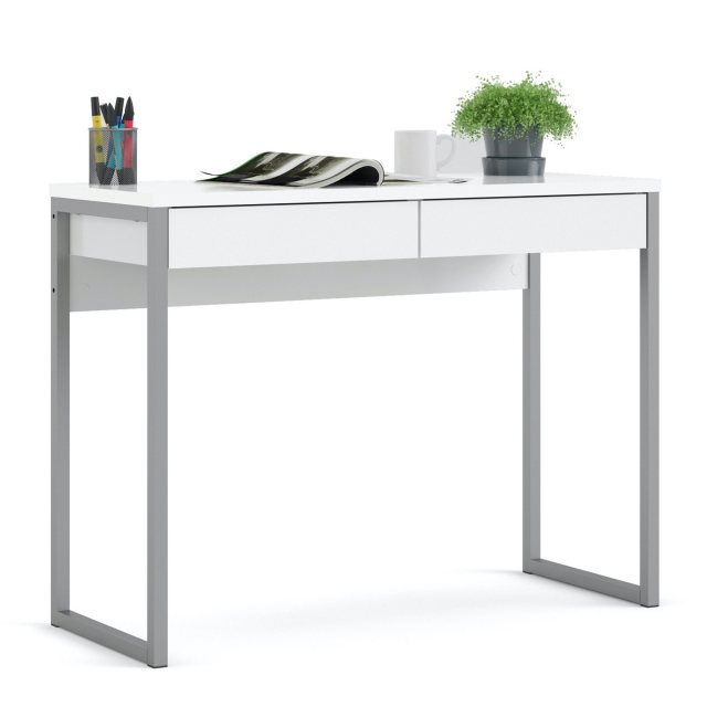 Home In Tarm 2 Drawers Desk - White