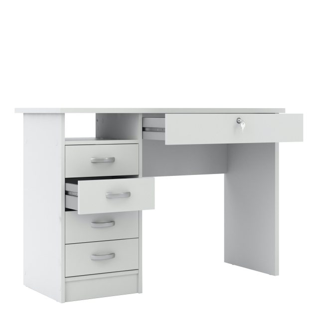 Home In Tarm 5 Drawers Desk