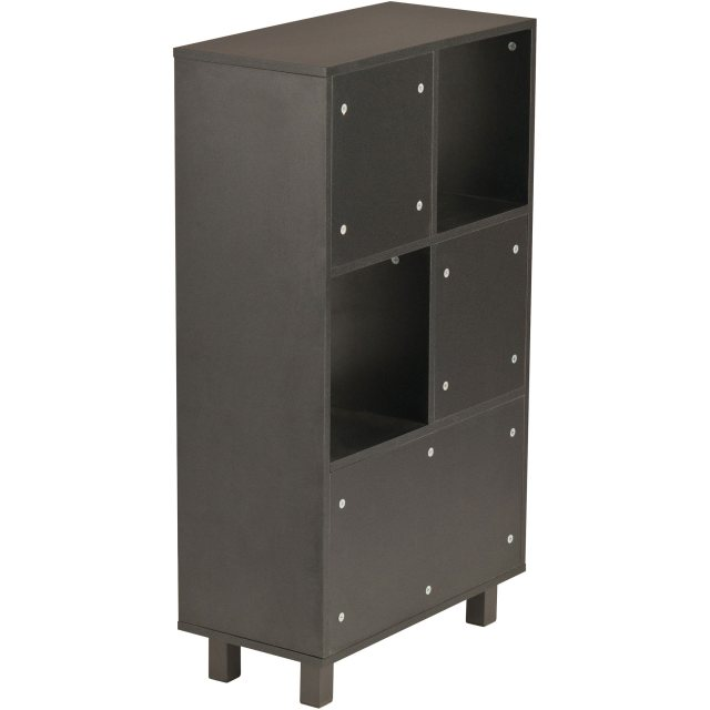 Piranha Furniture Dolly Tall Storage Unit - Graphite Black