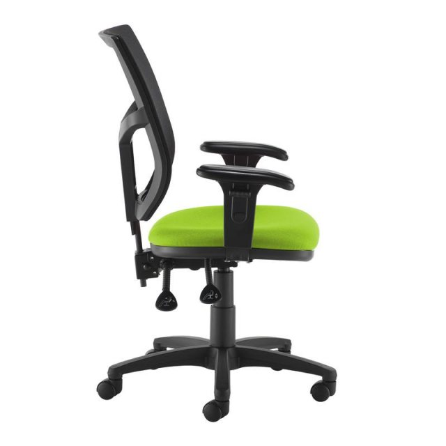 Home In Jory 880 Mesh Back Office Chair Adjustable Arms - Black and Green