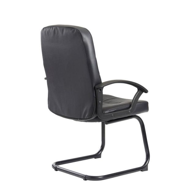 Home In Linos Deep Padded Occasional Office Chair - Black