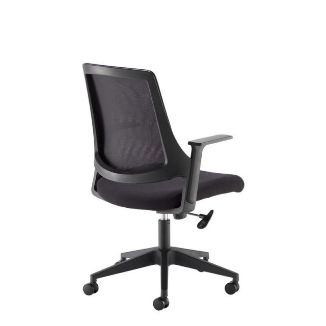 Home In Wenba Mesh Back Swivel Office Chair - Black