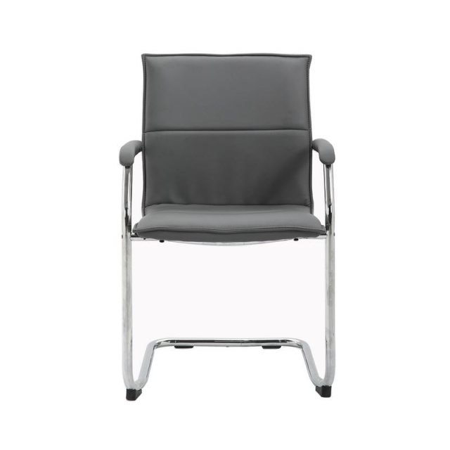 Home In Jarli Chrome Frame Occasional Chair - Grey