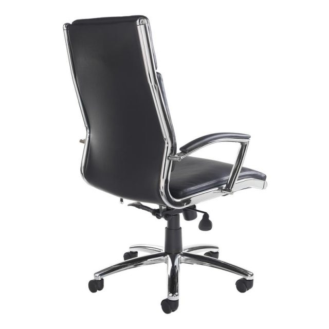 Home In Glamo Deluxe Swivel Office Chair - Black