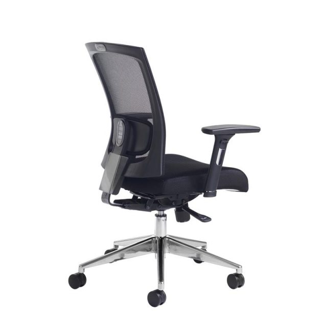Home In Muran Mesh Back Swivel Office Chair Adjustable Arms - Black