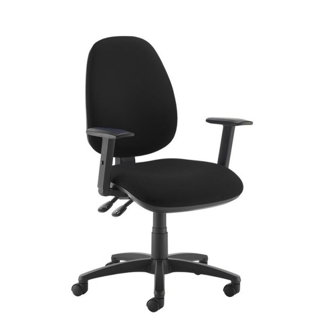 Home In Zeenus 530 Fabric Ajustable Arms Swivel Office Chair - Black