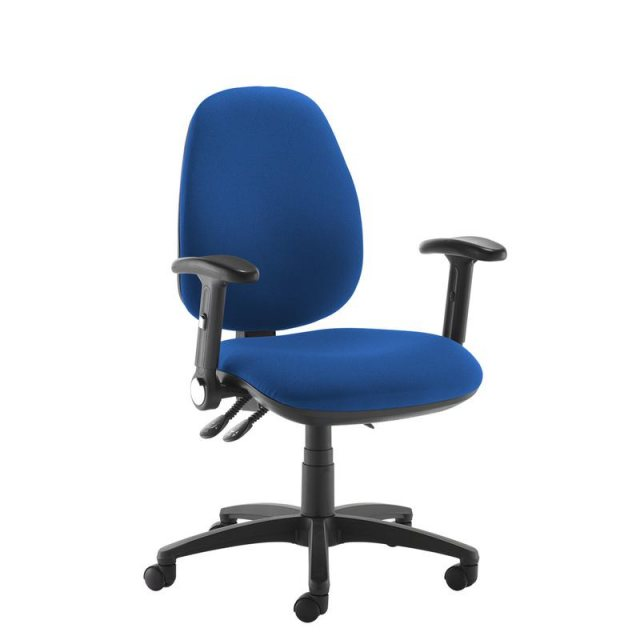 Home In Zeenus 630 Fabric Ajustable Arms Swivel Office Chair - Blue