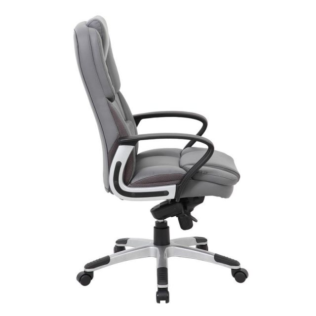 Home In Latif Deep Padded Swivel Managers Office Chair - Grey