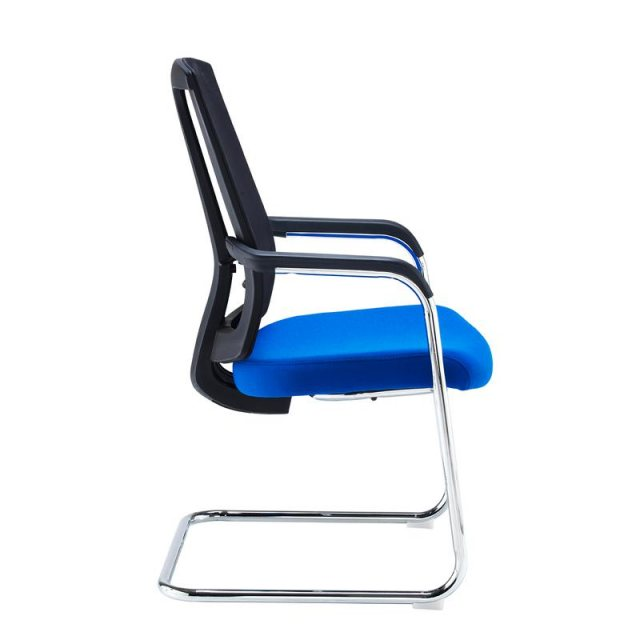 Home In Spiro Mesh Back Occasional Chair Chrome Frame - Black Blue