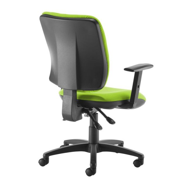 Home In Guli 650 Fabric Swivel Office Chair Adjustable Arms - Green