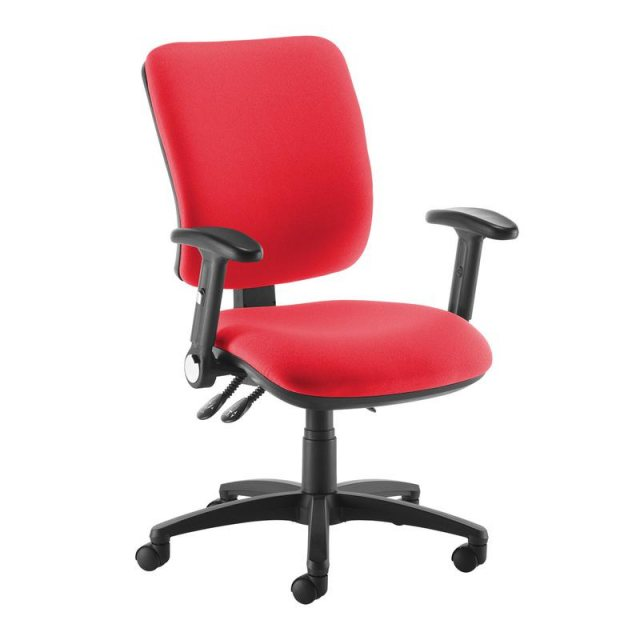 Home In Guli 750 Swivel Office Chair Folding Adjustable Arms - Red