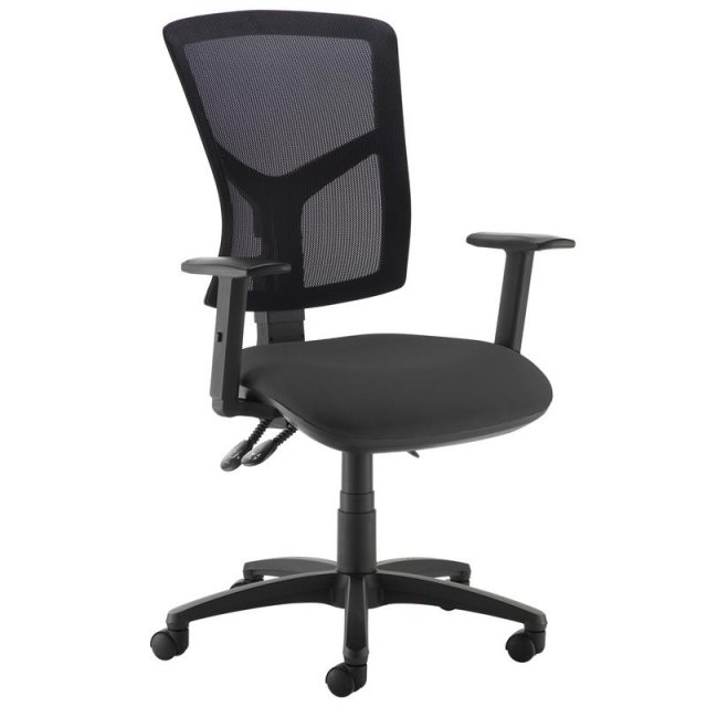 Home In Katia 440 Adjustable Arms Swivel Office Chair - Black