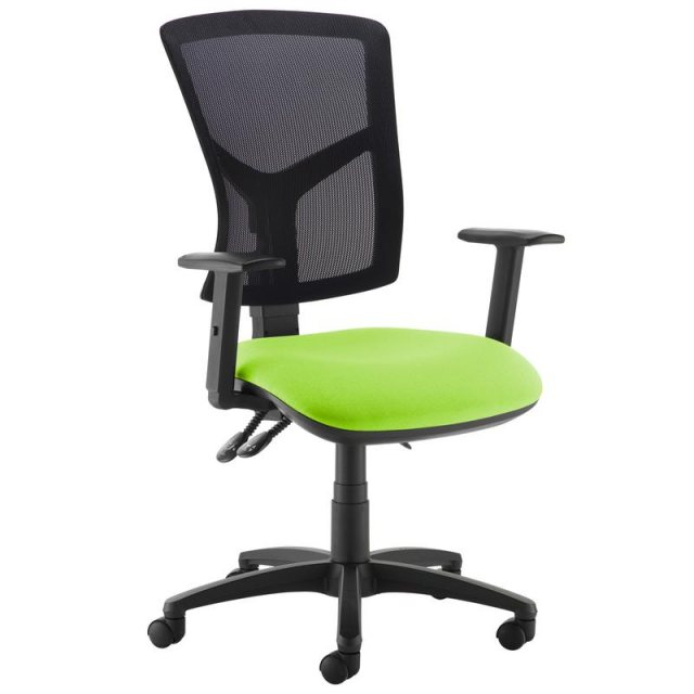 Home In Katia 440 Adjustable Arms Swivel Office Chair - Black and Green
