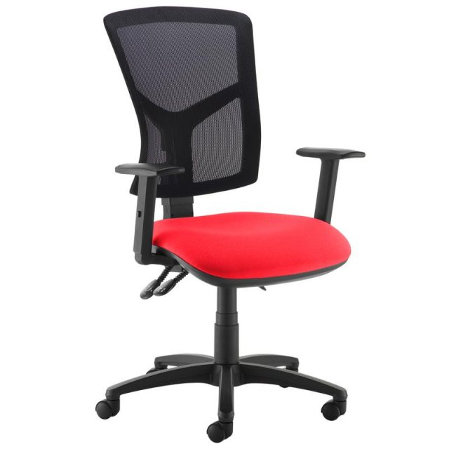 Home In Katia 440 Adjustable Arms Swivel Office Chair - Black and Red