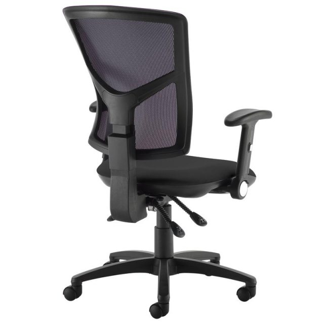 Home In Katia 540 Folding Arms Swivel Office Chair - Black