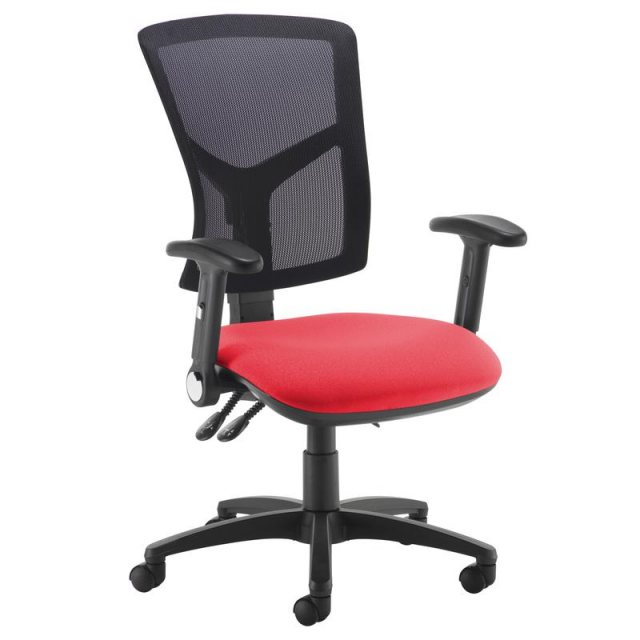 Home In Katia 540 Folding Arms Swivel Office Chair - Black and Red