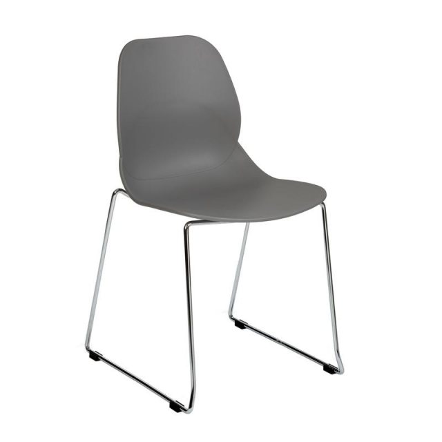 Home In Anwen Star Sled Leg Cafe and Dining Chair - Grey