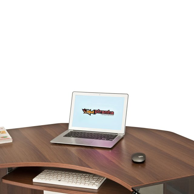 Piranha Furniture Frigate Large Corner Desk With Glass Desktop